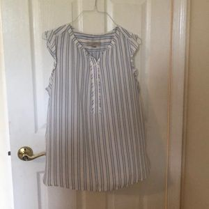 Baby Blue Striped Blouse!